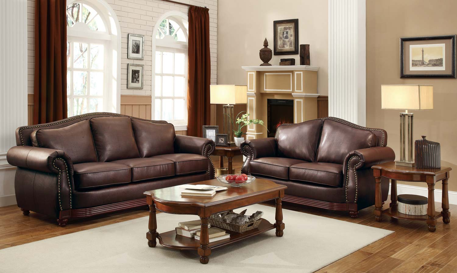 contemporary-brown-leather-sofa-sets-with-photos-of-brown-collection-in-ideas